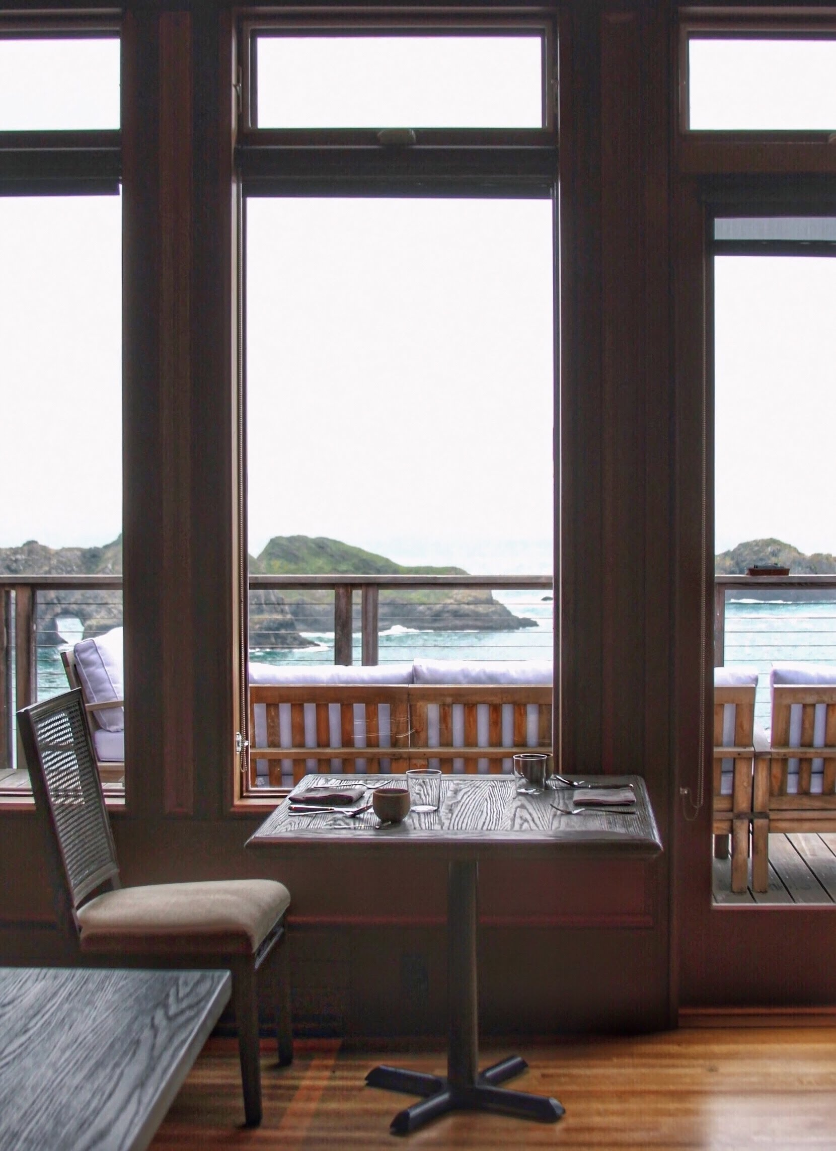 The ridiculous vantage point from the dining room at The Harbor House Inn.