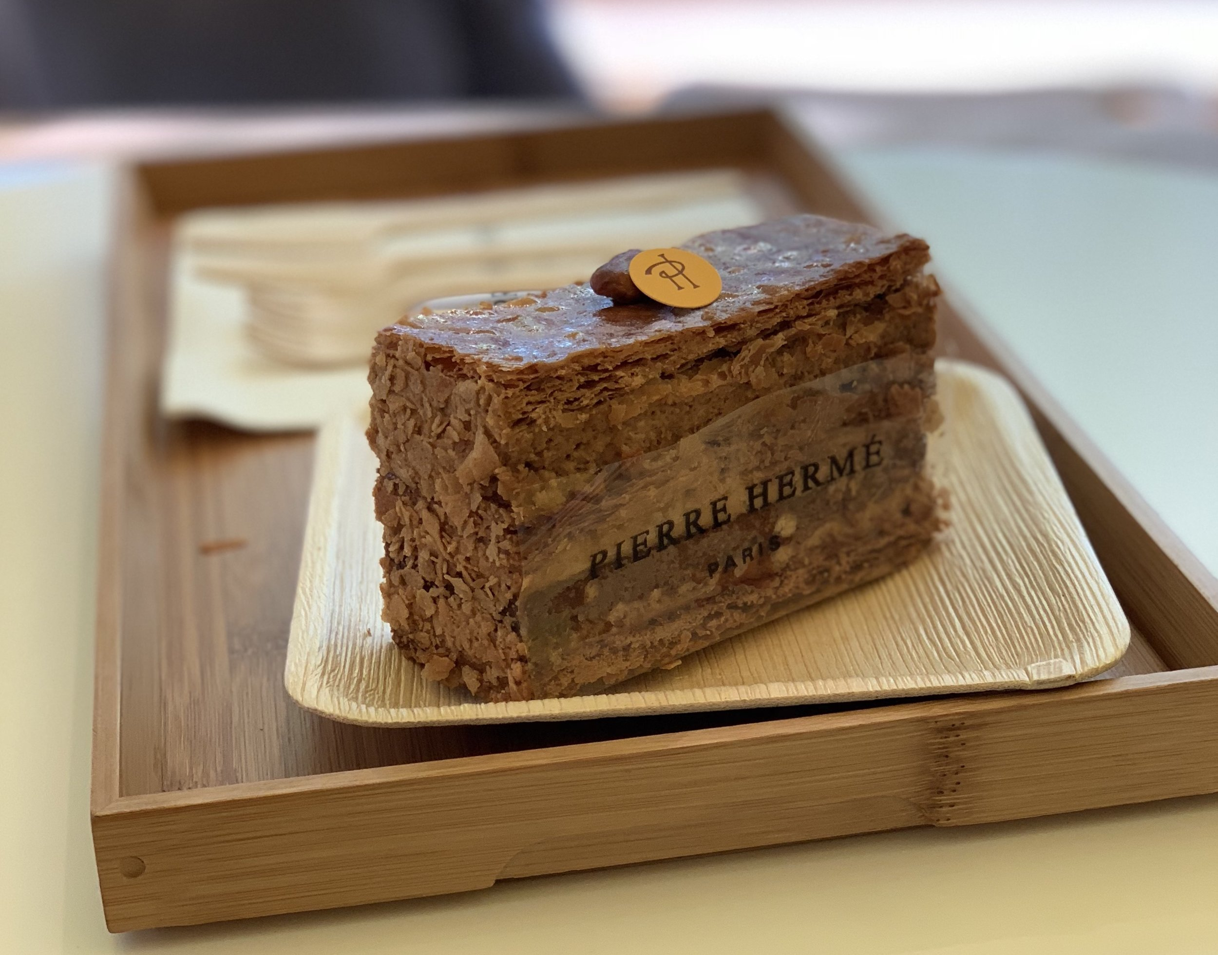 Don't even consider traveling to Paris and skipping out on Pierre Herme's 2,000 layer dessert!