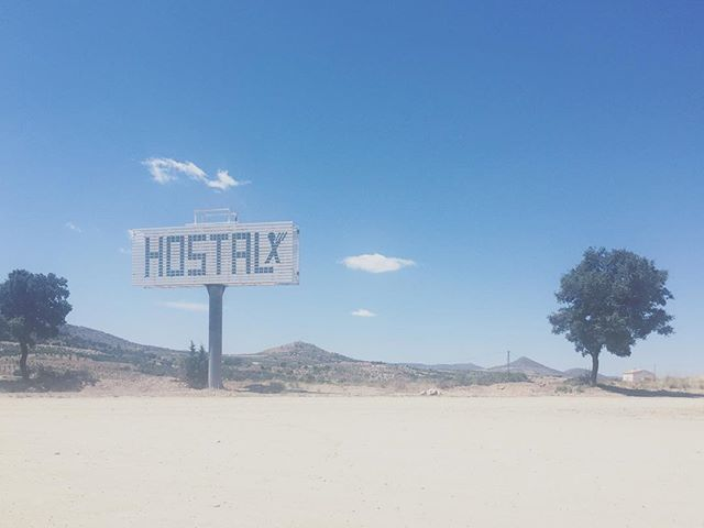 Pit stop in a random place on our road trip around the Iberian peninsula. . . . . #roadtrip #spain #visitspain #andalucia #hostel #ontheroad #rural #ruralspain #hostal #iberianpeninsula #iberiantour #iberianexplorer #holidays #summer #heat #motelsigns #motel #summerholidays #summerroadtrip #spain_in_pictures #spain🇪🇸 #visitandalucia #roadtrippin #ruralstyle #vintagesign #typography #signs #signage #typographydesign #typographylove . Photo by @babsihe