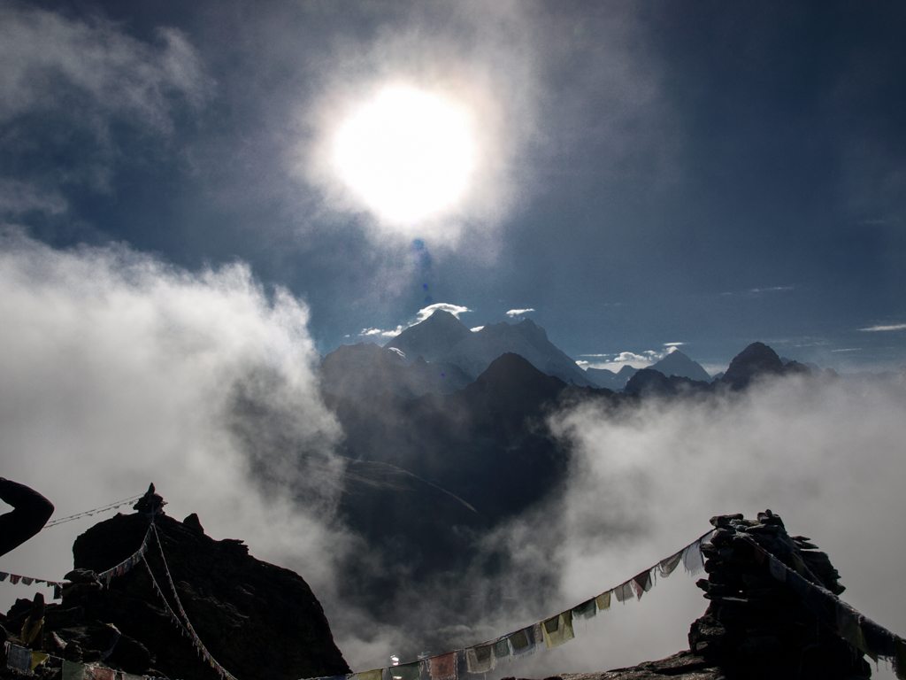 Mount Everest from Gokyo Re