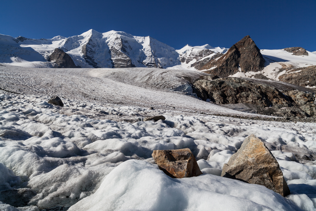 Piz Palu from Pers Glacier