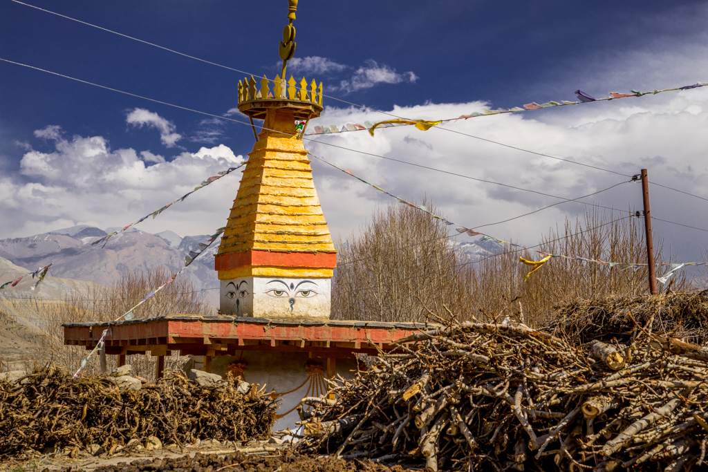 Gompa in mountain village