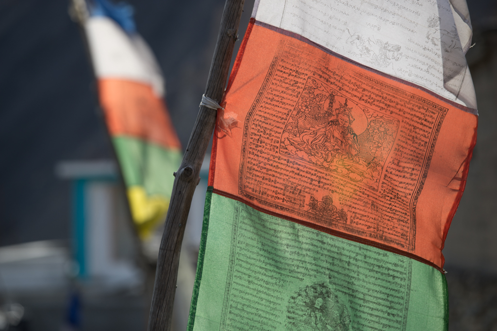 Prayer flags in Kagbeni