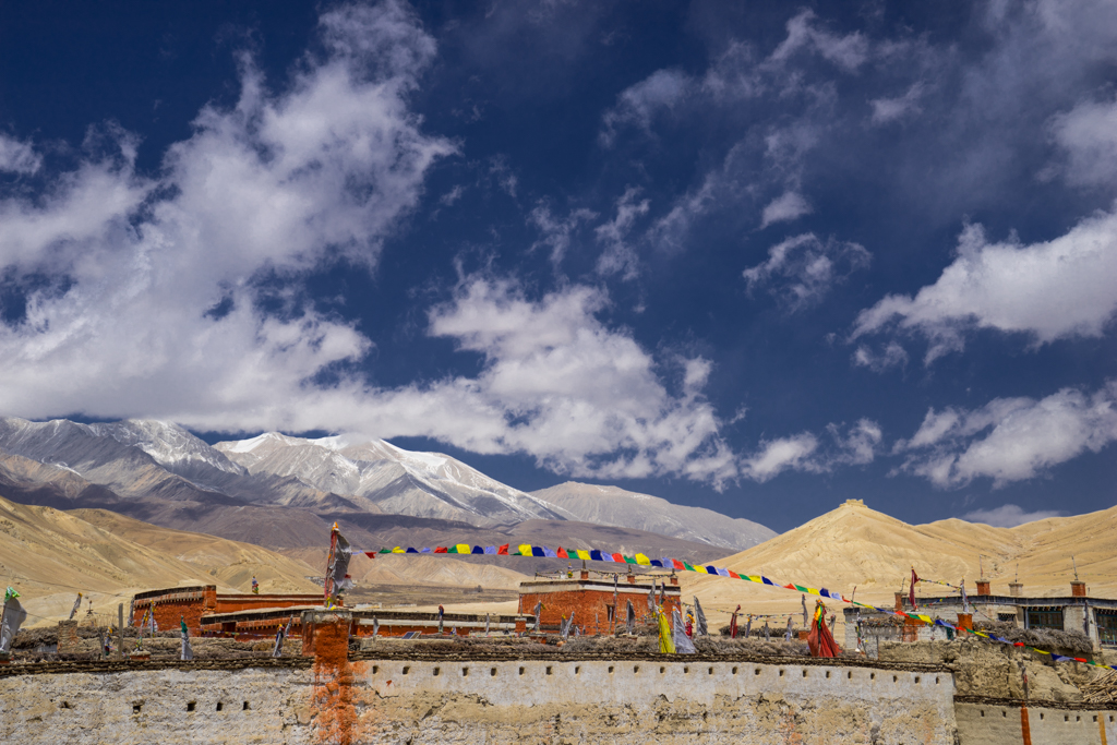 The walls of Lo Manthang