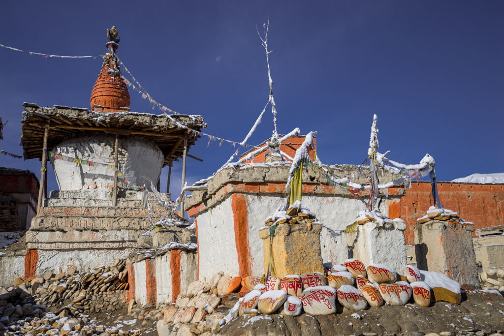 Chorten and temple in Lo Manthang