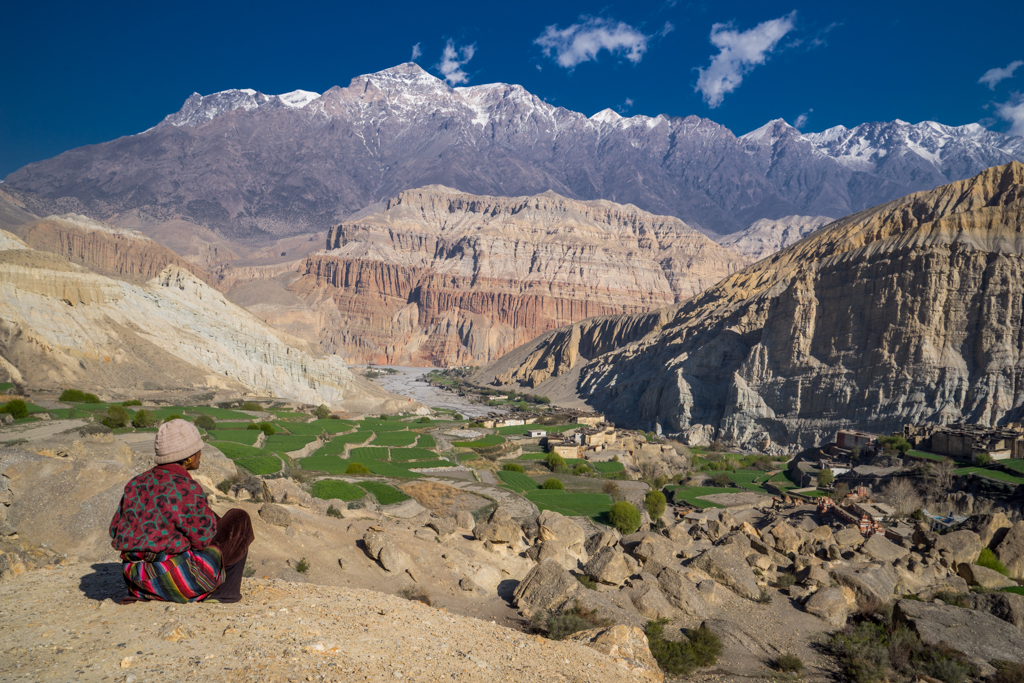 View into Kingdom of Mustang