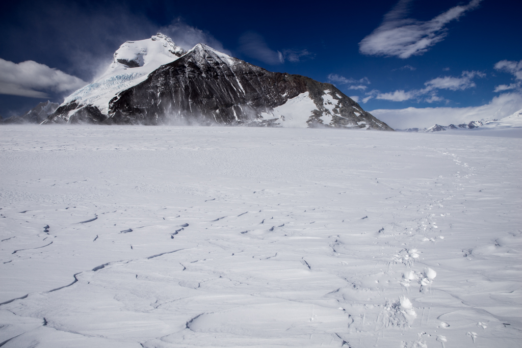 Footsteps on the ice field