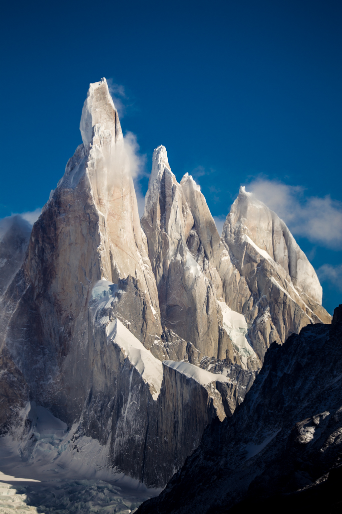 Cerro Torre with clouds