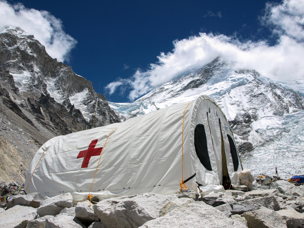 Hospital tent in Everest base camp