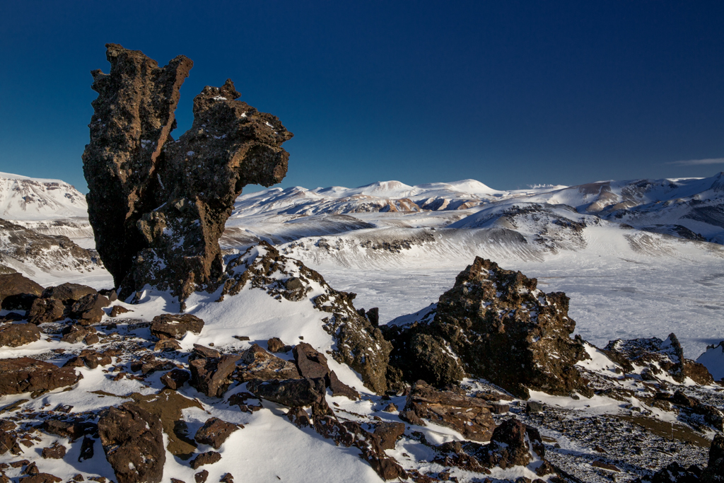 Stone formations above Alftavatn