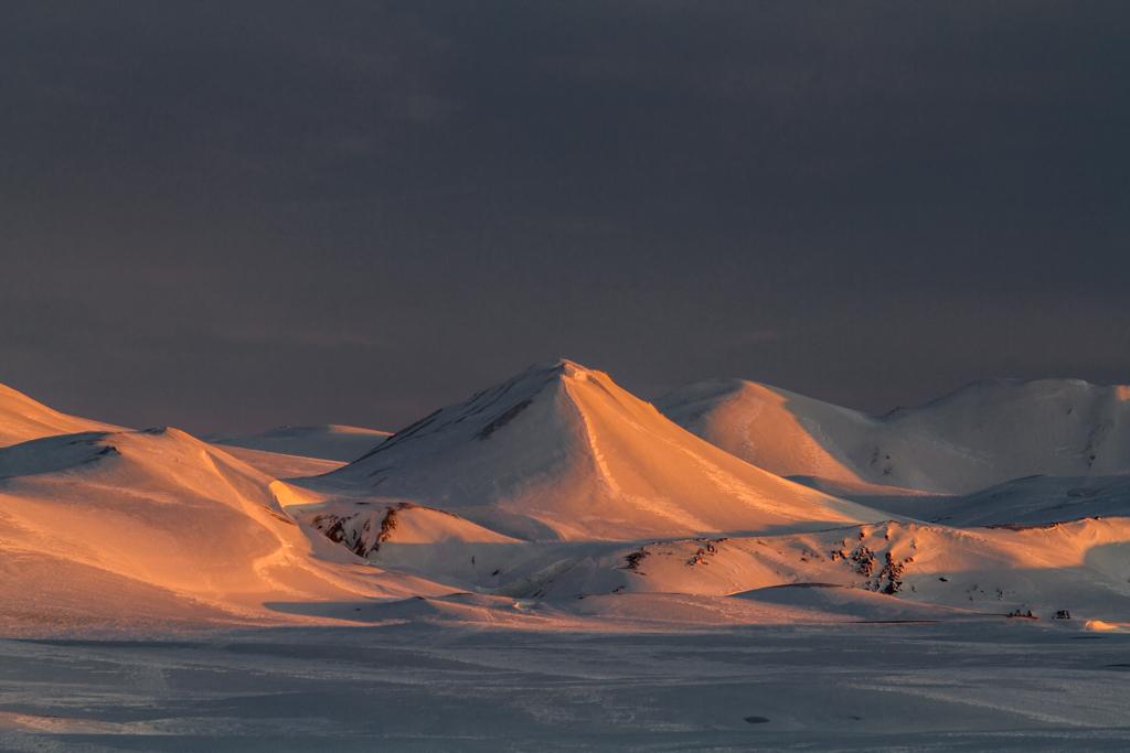 Sun-light mountain from Hraftinusker