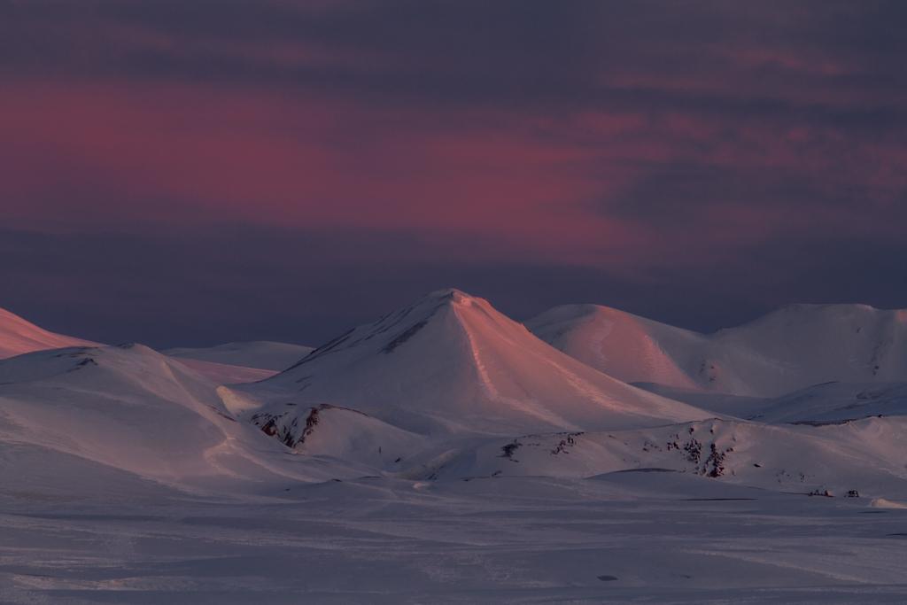 Evening light near Hraftinusker hut
