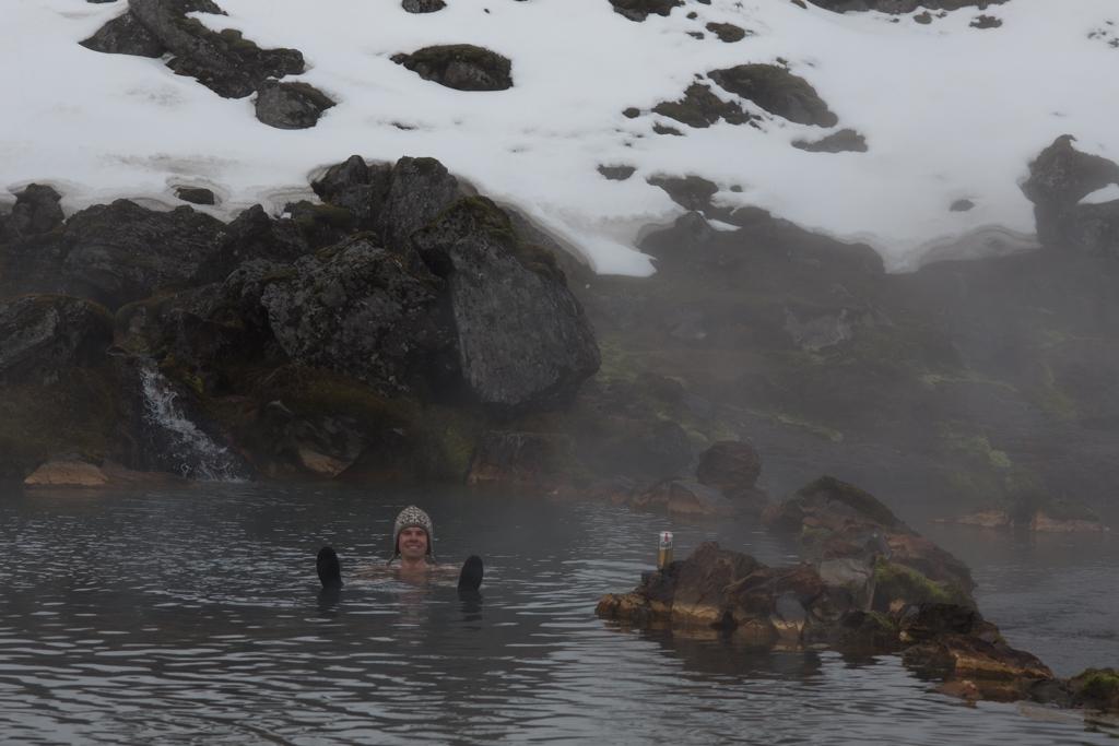 Hot pool at Landmannalaugur