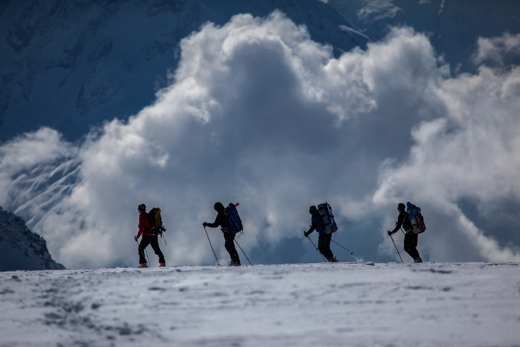 Ski-Touring on Claridenfirn