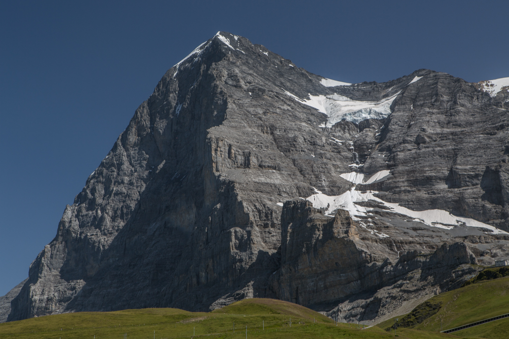 Snow-free Eiger north face