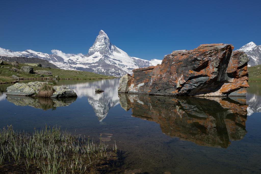 Matterhorn mirroring in lake