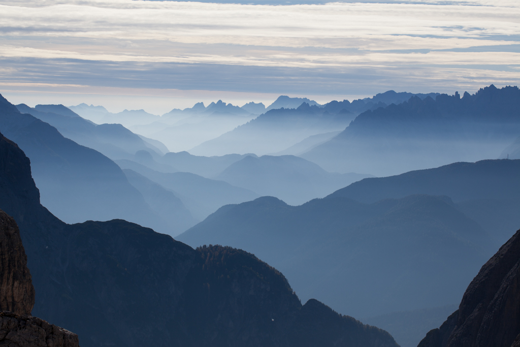 Foggy mountains in South Tirol