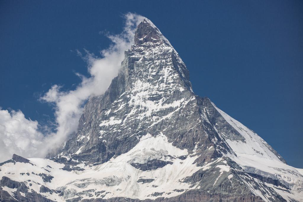 Matterhorn with clouds