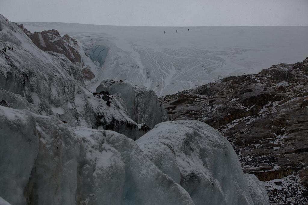 3 Italians on Marconi-glacier