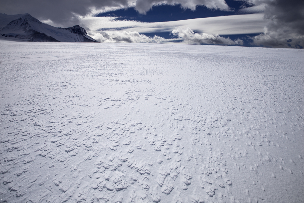 Untouched snow and ice