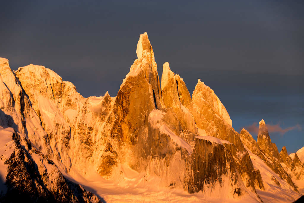 Cerro Torre in the early morning