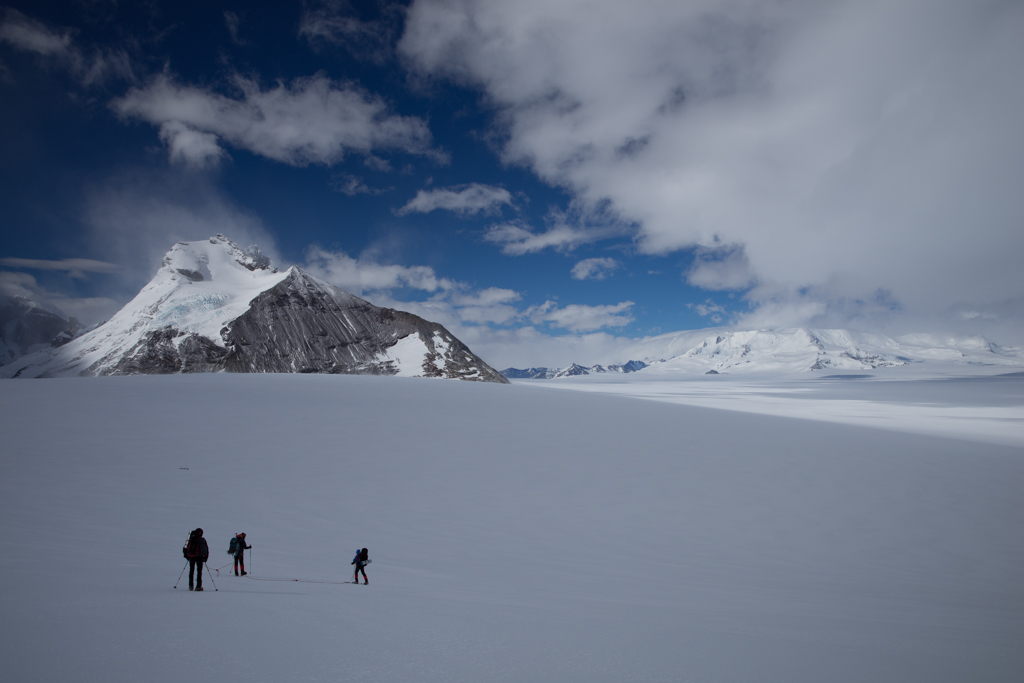 3 Italians starting hike to next camp