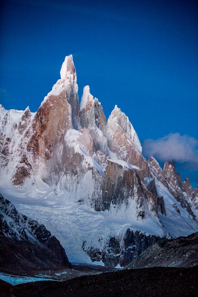 Cerro Torre from Camp Agostini