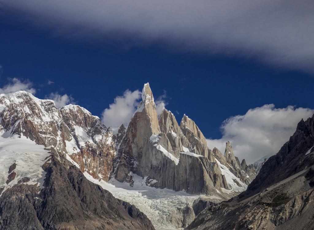 Beautiful clouds surrounding Cerro Torre
