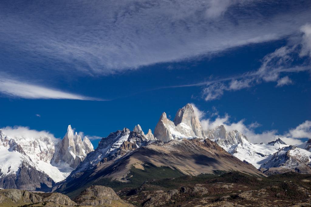 Panorama Cerro Torre and Cerro Fitzroy
