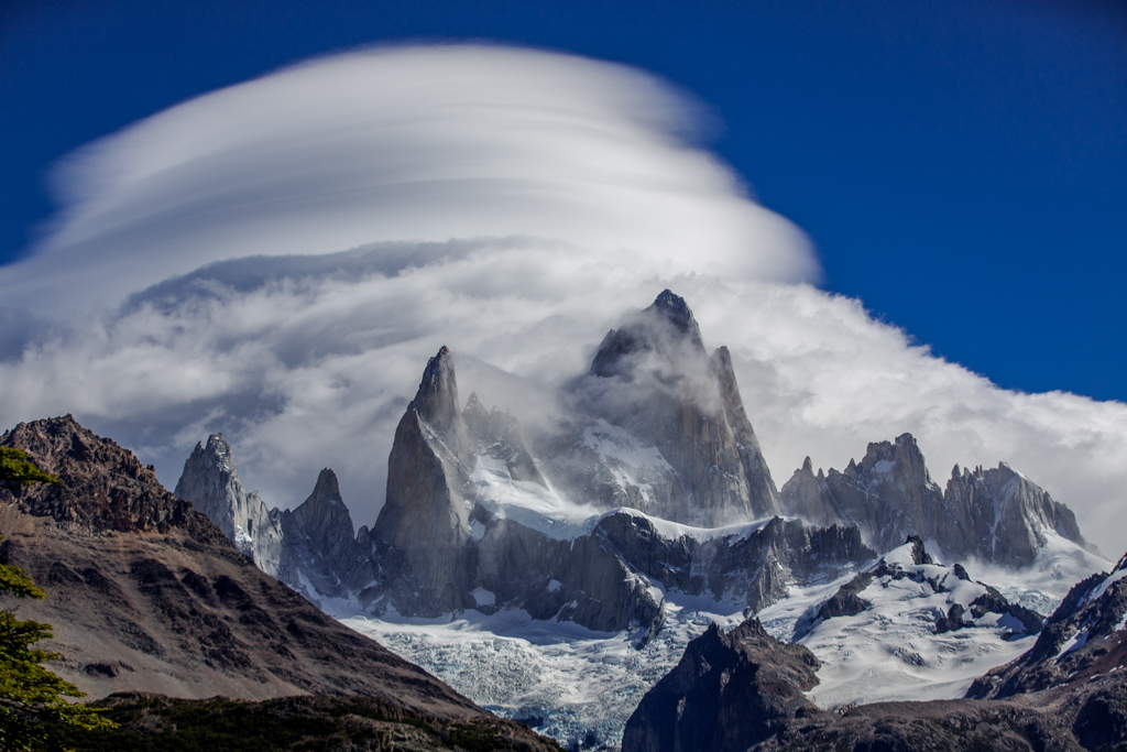 Dramatic clouds on Cerro Fitzroy