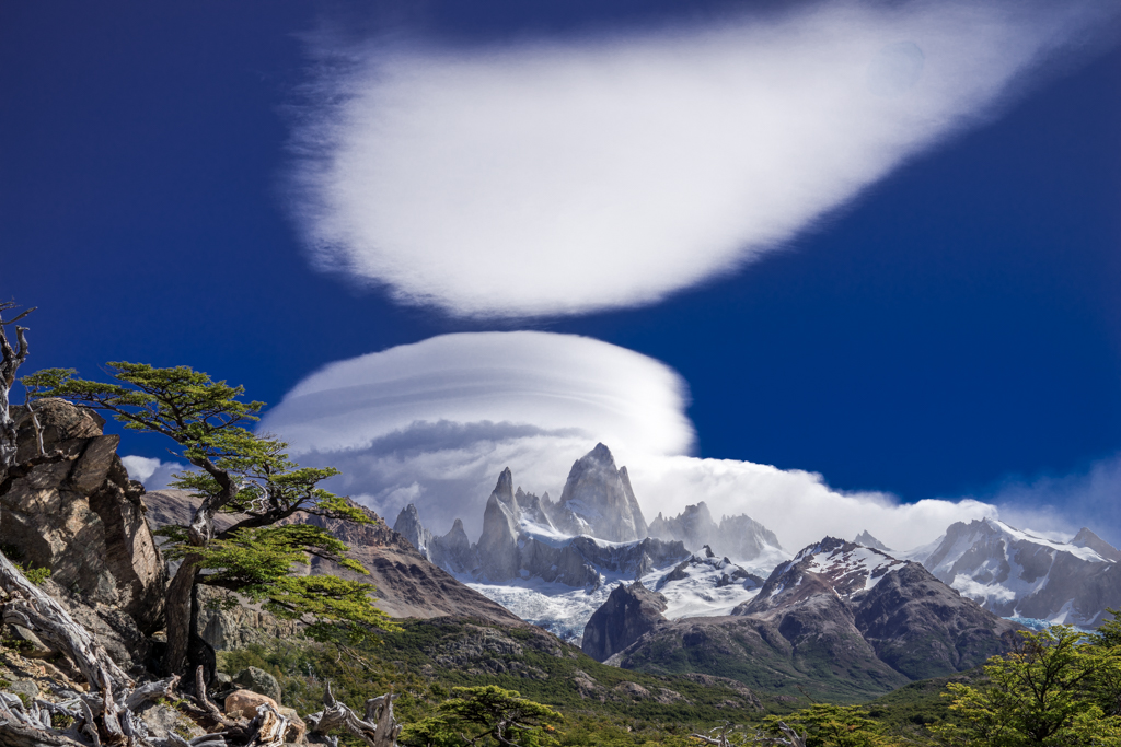 Mirroring clouds above Cerro Fitzroy