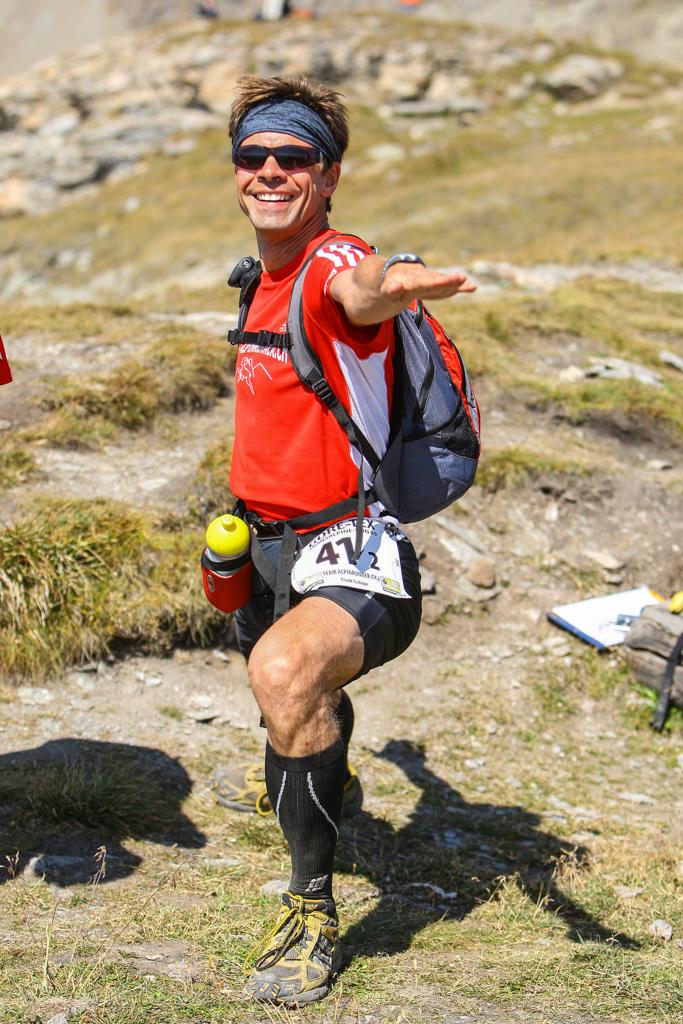 Frank at the Transalpine Run