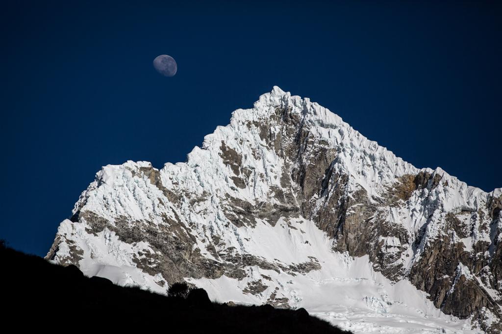 Alpamayo with moon
