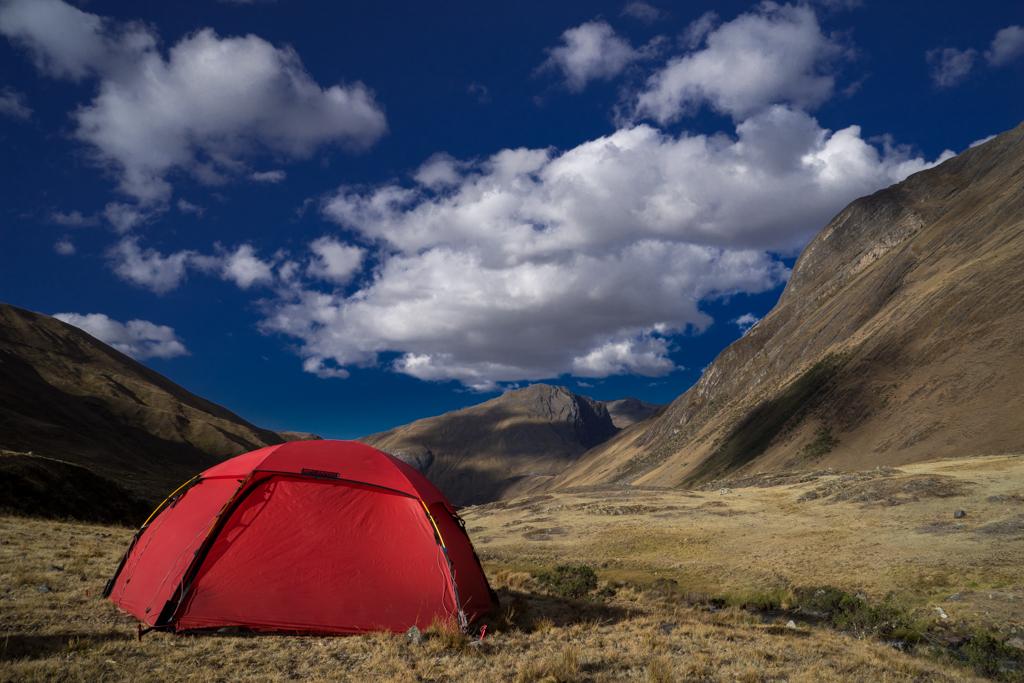 Camp site near a river