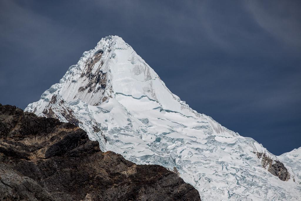Some clouds around the summit