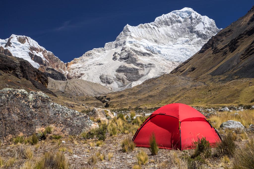 Camp before Nevada Santa Cruz (6241m)