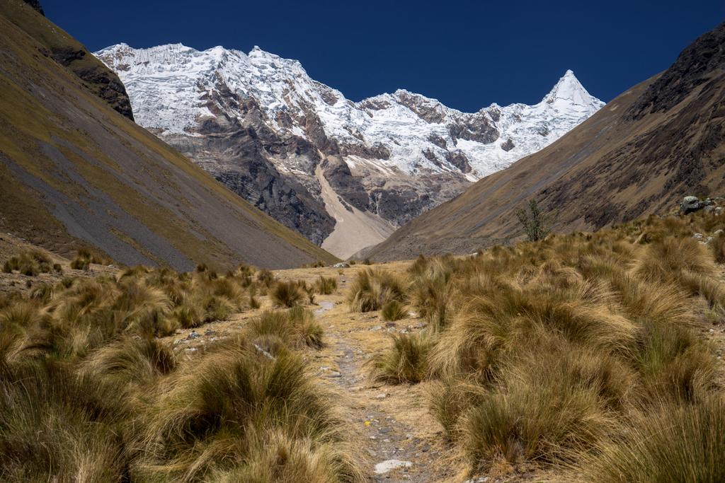 Hiking in Alpamayo valley.