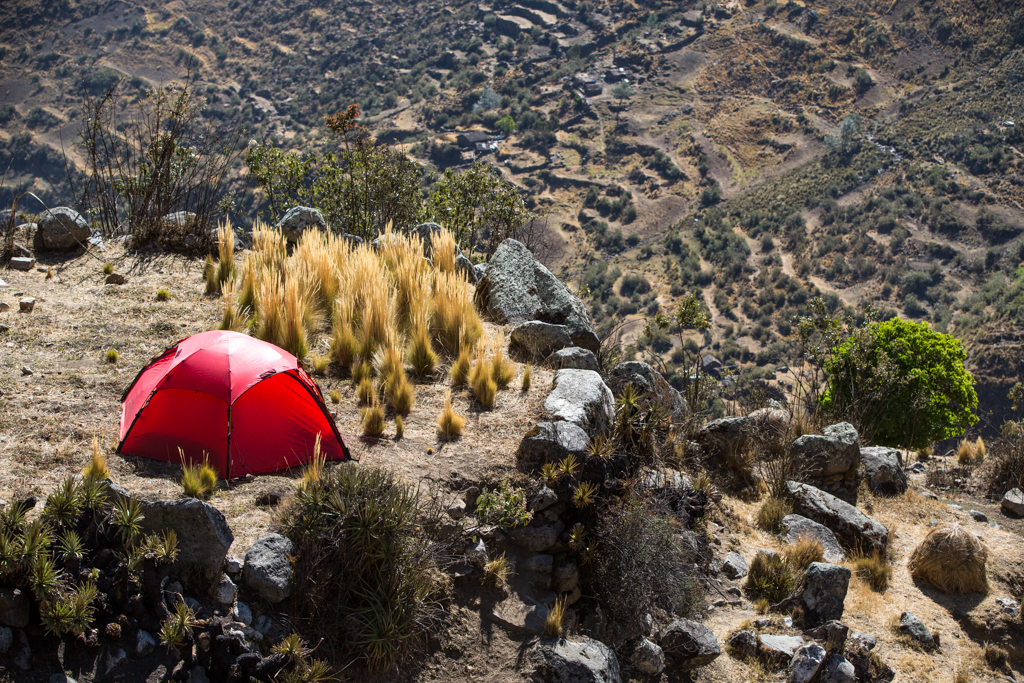 Tent site on a little terrace