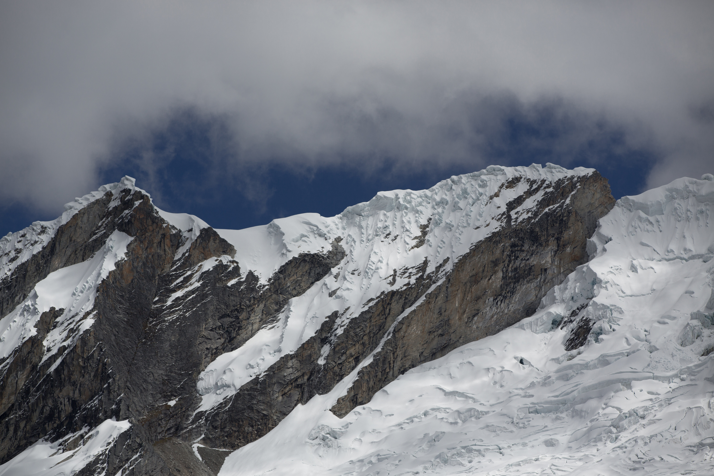 Clouds seen from Punta Union Pass (4730m)