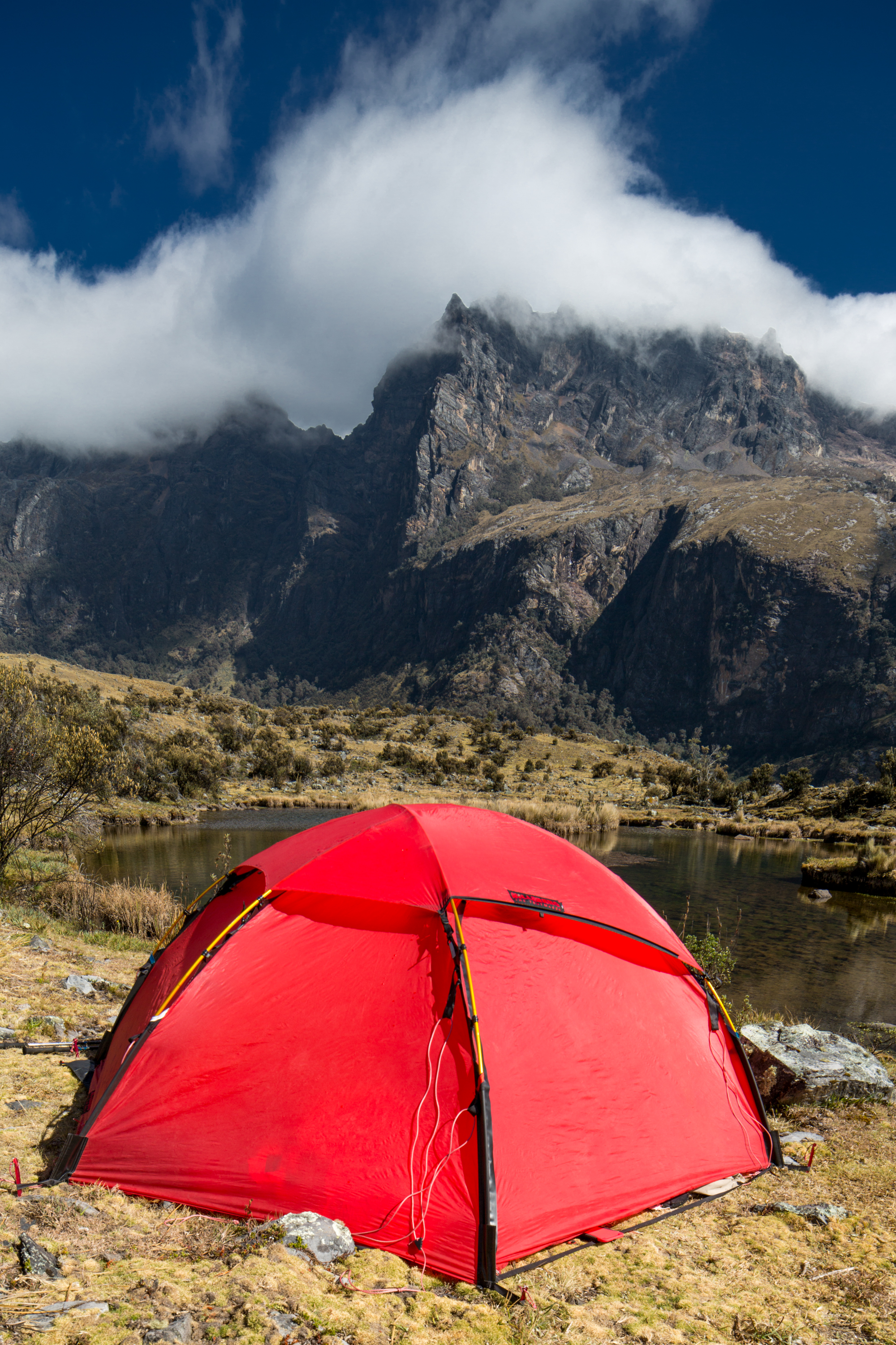 Tent and clouds approaching