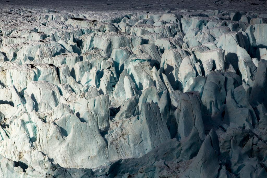 Crevassed glacier in Drygalski Fjord