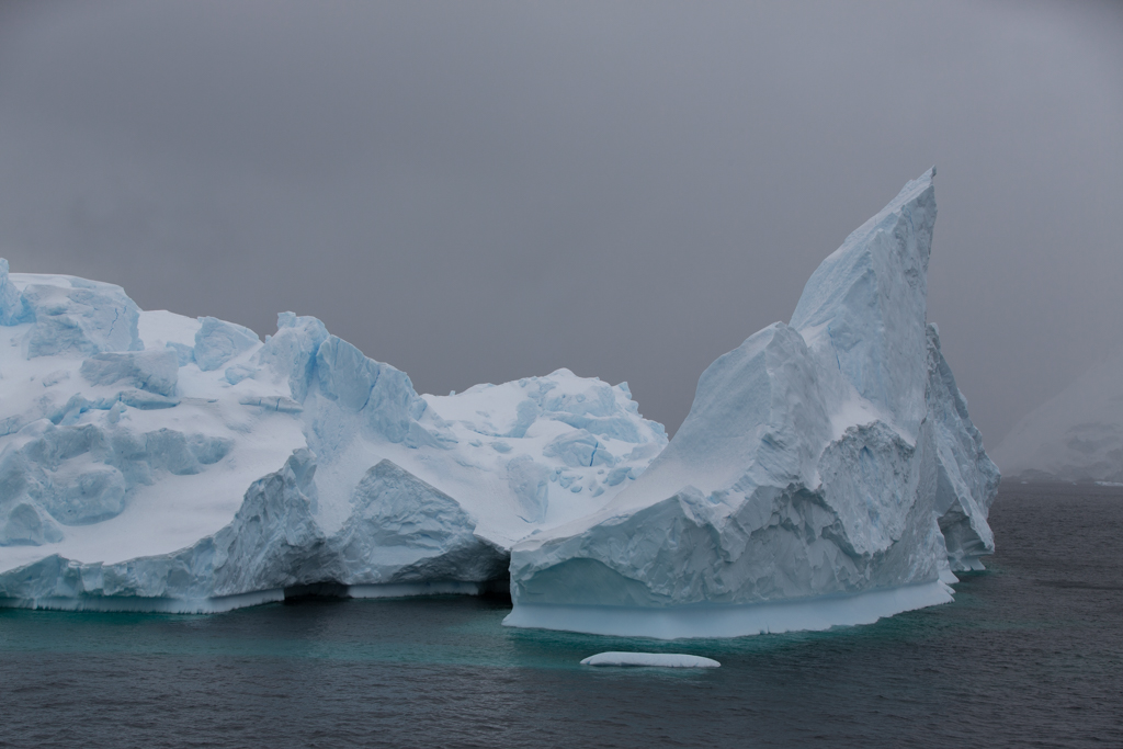 Bigger irregular icebergs