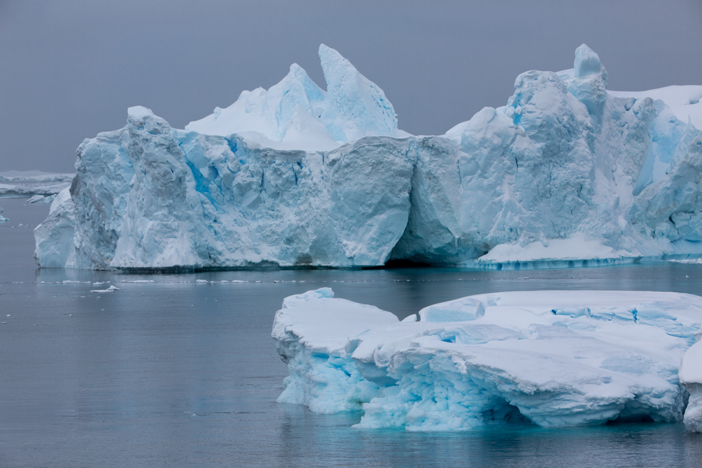 Huge icebergs in Gerlache Straight