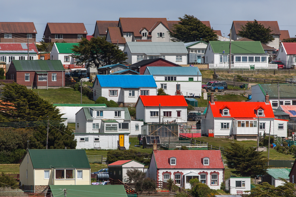 Colorful houses in Stanley / East Falkland Islands