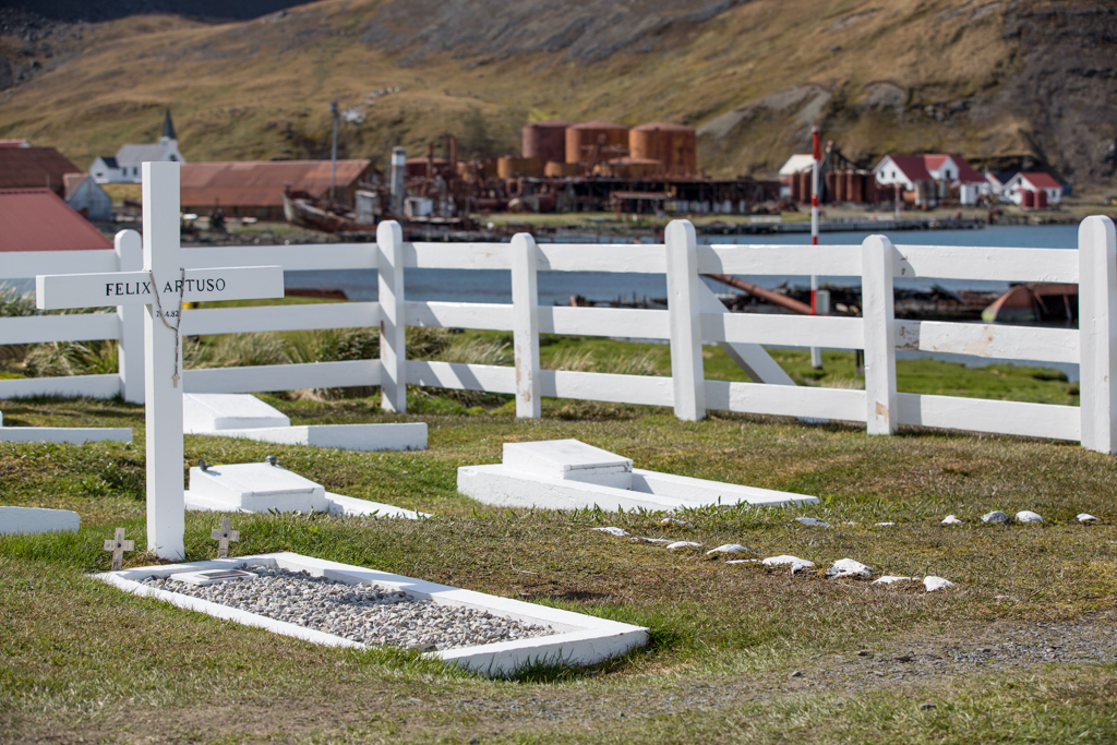Cemetery of Grytviken in South Georgia