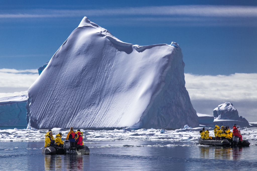 Navigating through icebergs and ice floes