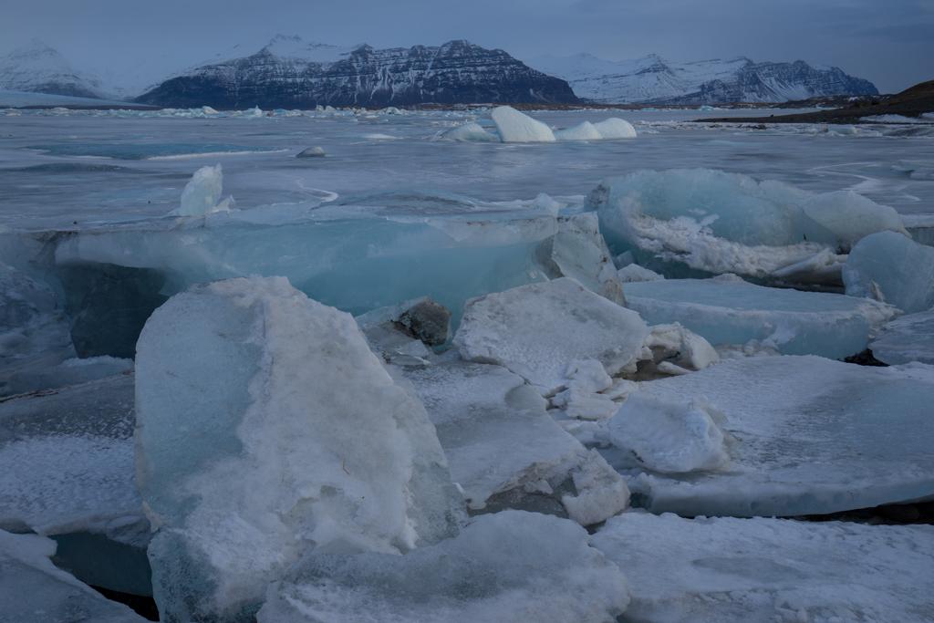 Colorful iceblocks on Jökulsarlon