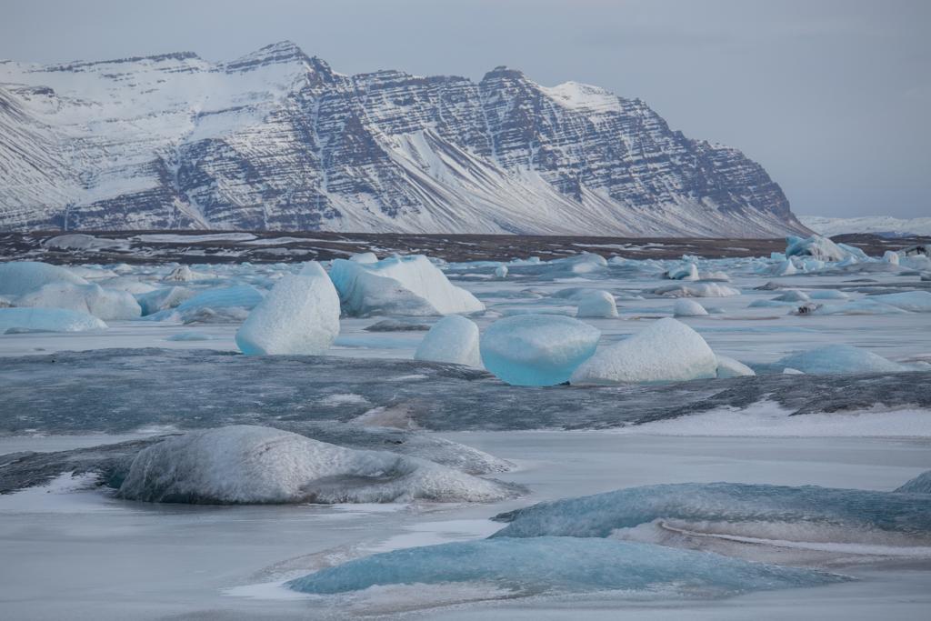 Ice on frozen Jökulsarlon