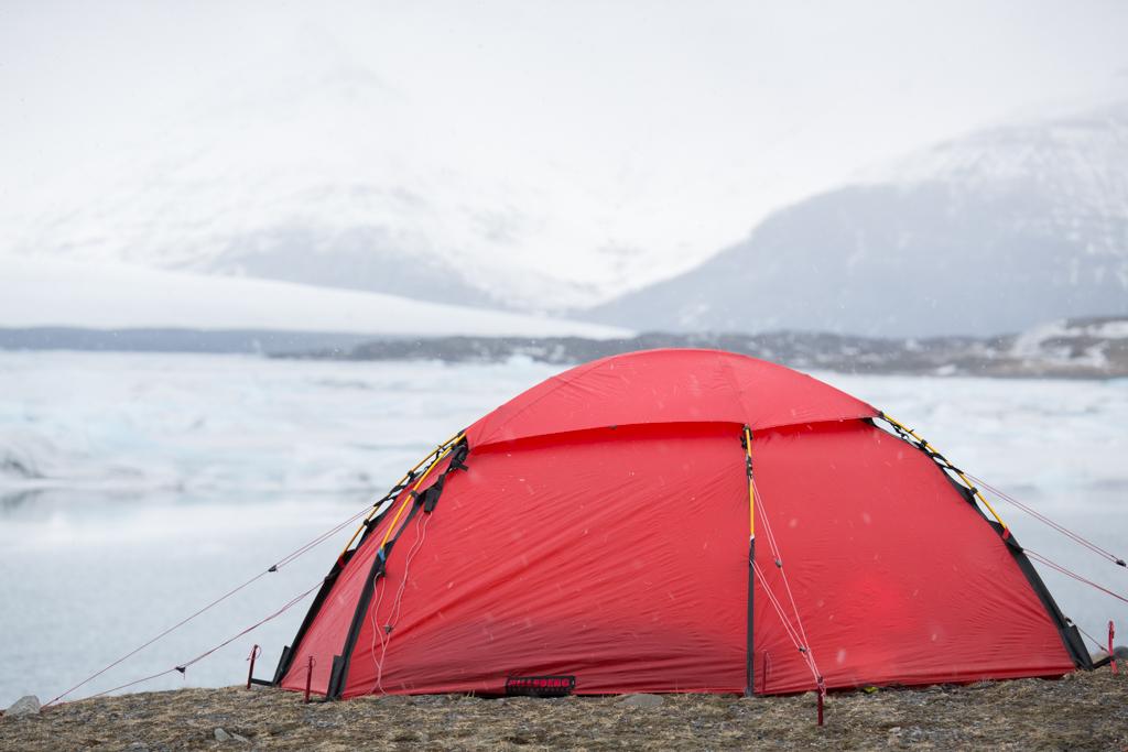 Camping at Jökulsarlon