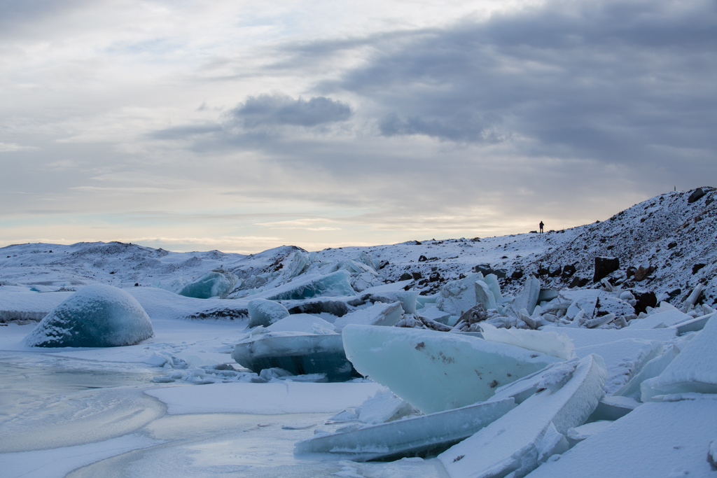 Nice light and icebergs on Jökulsarlon
